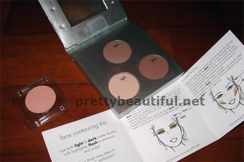 stila contouring kit, eyeshadow in bouquet
