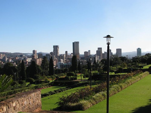 Pretoria city centre from Union gardens