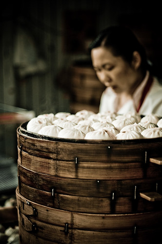 Xiao Long Bao in the steamer