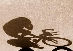 biking Elephant Man (Werner Schnell Images (2.stream)) Tags: shadow elephant man bike triathlon 2009 werner ws schnell kreuztal buschhütten theunforgettablepictures wernerschnell saariysqualitypictures