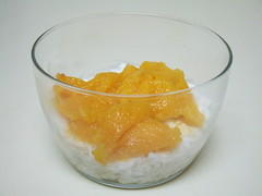 Coconut Rice Pudding with Fresh Mango