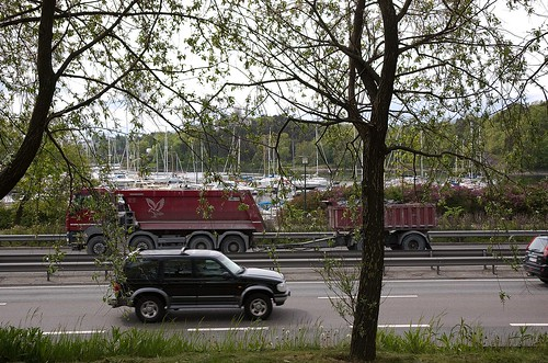 Frøyas have - Utsikt mot motorveien og Frognerkilen