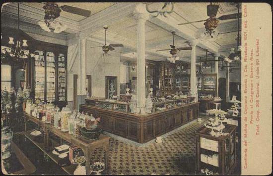 Intérieur de la Confiteria del Molino avant l'incendie de 1930