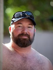 Pose (todd*) Tags: bear portrait pool pose beard brent contrajour patrickjan