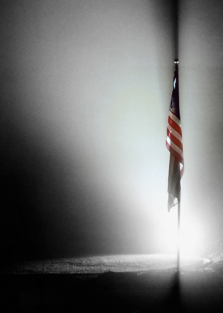 Old Glory in The Fog