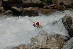 Kayaking through Bull Sluice