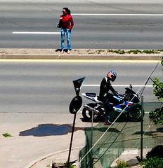 IMGP5596-2 (grgrgrz) Tags: bike friend meeting redjacket theride bikergirl penatx ameeting k10d