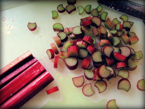 Rhubarb for jam