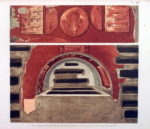 018- Arcosolio pintado sobre fondo rojo-La Roma sotterranea cristiana - © Universitätsbibliothek Heidelberg