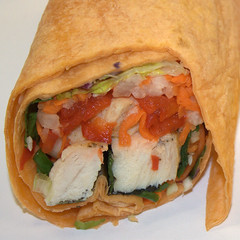 Jamba Juice - Asian Style Chicken Wrap, closeup