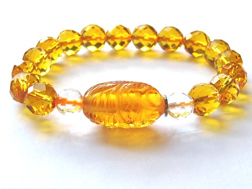 Citrine bracelet from crimeajewel by londontanty.
