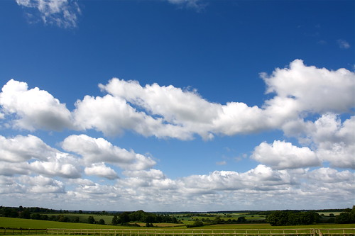 English summer sky