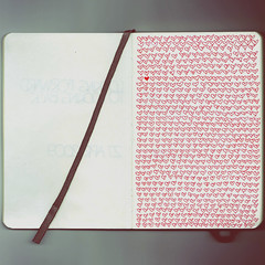 I drew a heart everytime I thought of you today (xdesx) Tags: moleskine heart journal scanned hee iheartsyou