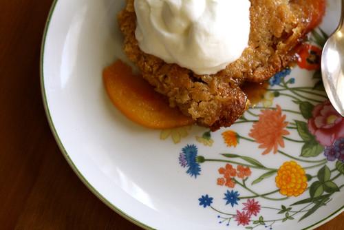 Nectarine and Cream Cobbler