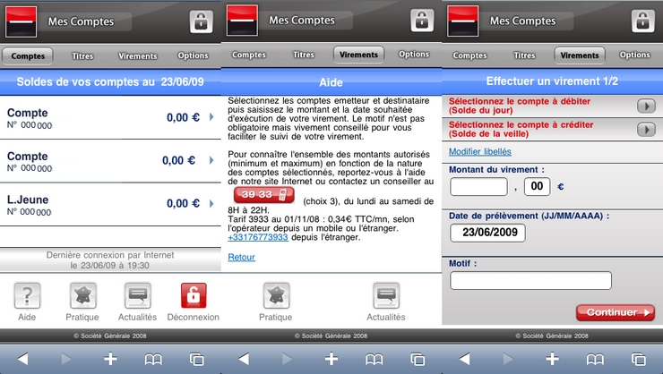 societe generale site iphone