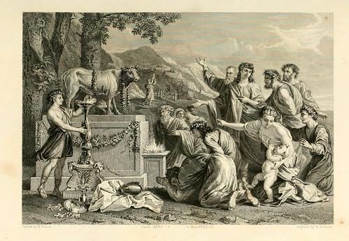 006- La adoracion del becerro de oro- Poussin