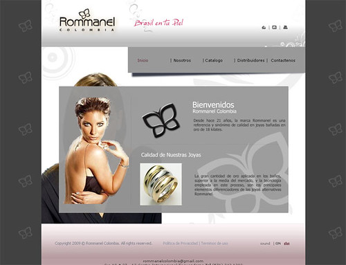 Diseño web sitio : www.rommanel.com.co by Bogota Colombia