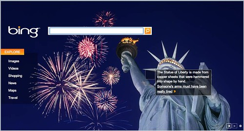Bing July 4th Logo