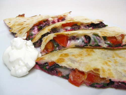 Beet Green & Amaranth Quesadilla