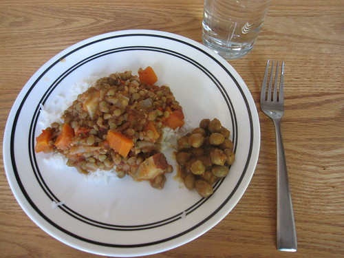 Chilean Dal with Chickpea Curry on the side