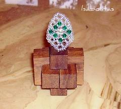 Anillo red romboidal con swarovski (Isabolitas) Tags: anillos