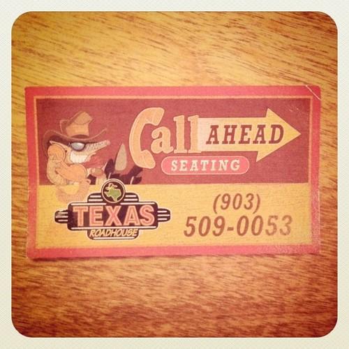 Texas Roadhouse Call Ahead Seating Awesome Home