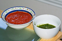 Hot Sauce and Pesto