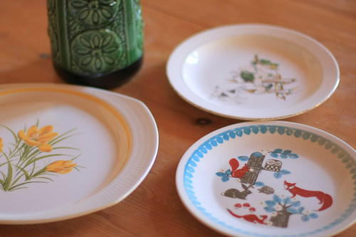 Old Figgjo children's plates