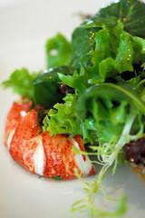 Salade de gourmande au homard, anguille fumee et St- Jacques - DSC_3716