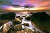Sunset (dan barron photography - landscape work) Tags: uk longexposure blue sunset sunlight seascape nature clouds reflections landscape colours shadows magenta northumberland tynemouth sigma1020mm nothdr nikond90 danbarron