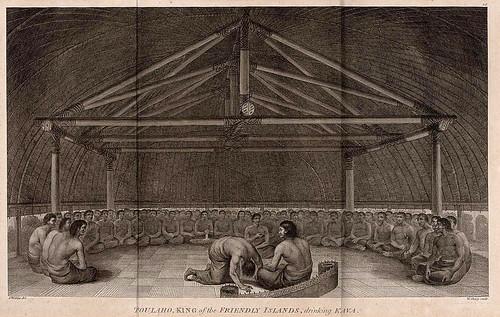 019-Poulaho rey de las islas Friendly bebiendo Kava