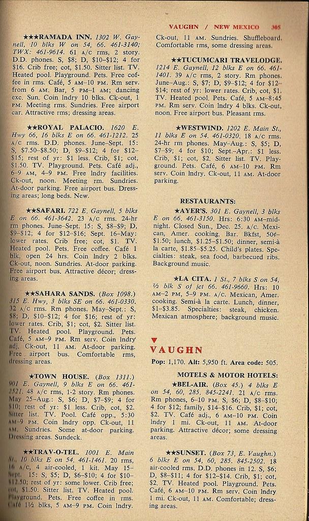 '66 Tucumcari listings, 2
