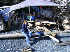 Maureen at Troy's camp (maureenlafleche) Tags: camp malcolmisland berepoint