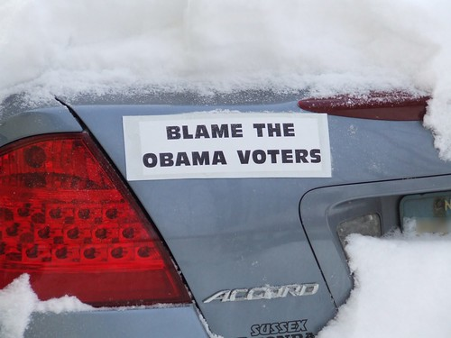 Blame the Obama Voters bumper sticker
