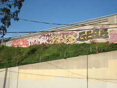 Sedek(RIP), Pryme, Beks, Gear, Tone, Satch (Asian Eater) Tags: graffiti losangeles alley pieces lol santamonica crew freeway graff bombs tone westla jdi satchmo rth satch sedek lolc