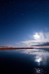 K20D0177 (Bob West) Tags: longexposure nightphotography winter lighthouse ontario night clouds lakeerie greatlakes moonlight nightshots sigma1020mm erieau southwestontario bobwest k20d eastlighthouseerieau