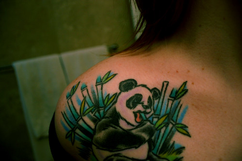 Munch Munch One of two panda tattoos