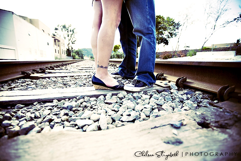 Cross process engagement photography