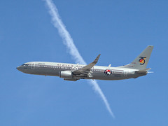 Starliner 75 - Las Vegas, NV  USA (gTarded) Tags: alaska contrail lasvegas boeing asa chemtrail airlines starliner 737 b737 n569as