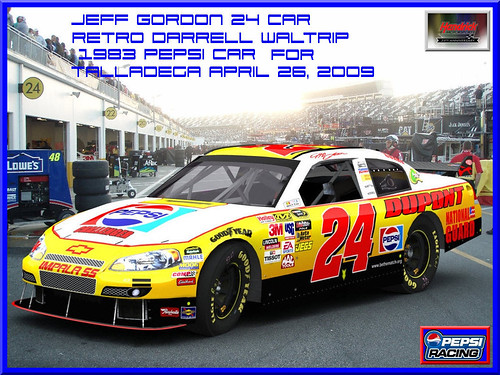 jeff gordon car photos. Jeff Gordon 2009 Retro Pepsi