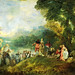 Watteau, Jean Antoine (1684-1721) - 1717 The Embarkation for Cythera (Louvre)