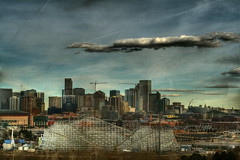 Denver Skyline with Elitch Gardens (TVGuy) Tags: skyline canon colorado downtown denver xs