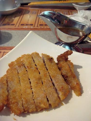 Pork chop cutlet@Chi Kei HK