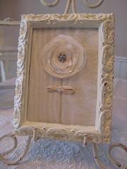 Framed Flower (littlethings1) Tags: flower floral vintage framed ivory cottagestyle rhinestone distressed ecru shabbychic creamytones
