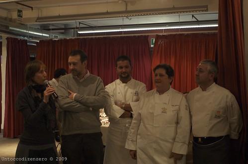 Chef Valeria Piccini, Andrea Menichetti e Walter Ferretto