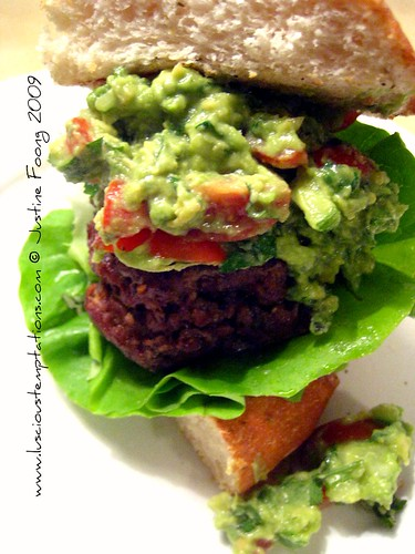 Homemade Burger with Guacamole