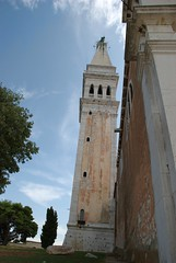 Bell tower of the church of S. Eufemia (akk_rus) Tags: city tower church town nikon europe cityscape bell croatia s belltower rovigno rovinj adriatic istria jadran istra eufemia d80  abigfave nikond80  platinumphoto theperfectphotographer    churchseufemia