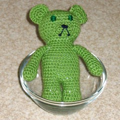 Green jelly bear