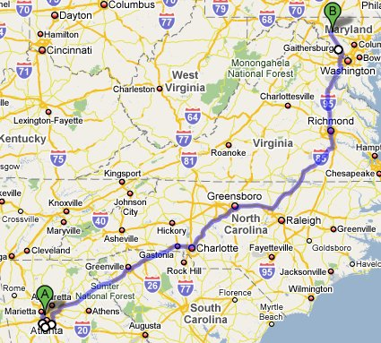 The Route from Atlanta