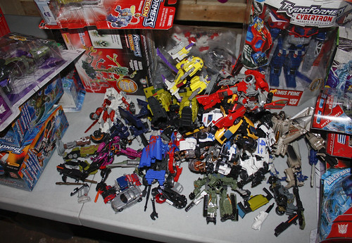 Movie toys to sell or give away to kids.